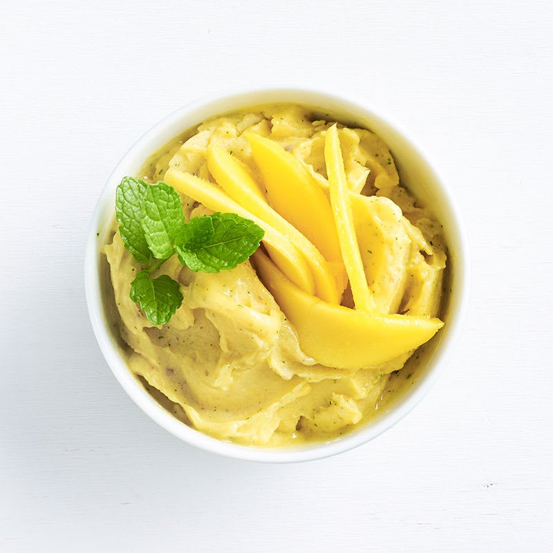 Photo of Mango and mint ice-cream by WW