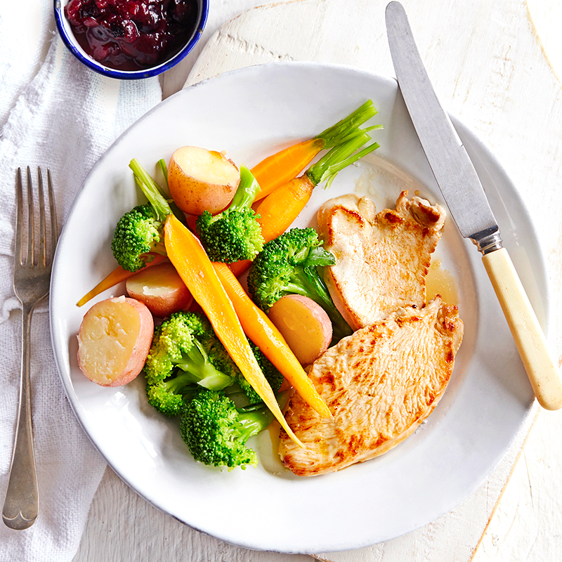 Photo of Turkey steaks with pear and blueberry relish by WW