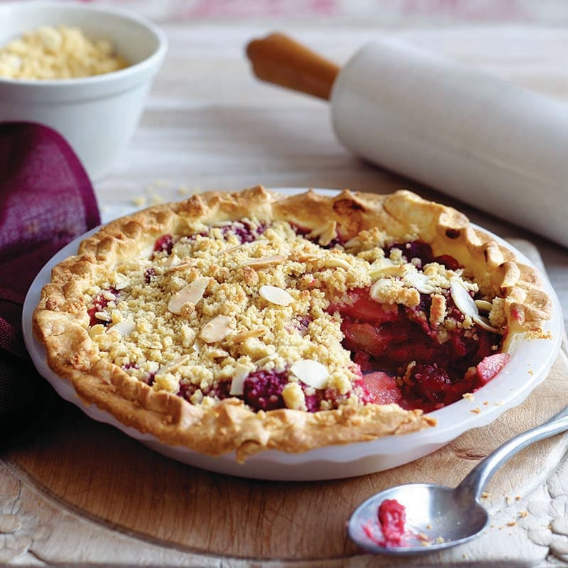 Photo of Apple and rhubarb crumble pie by WW