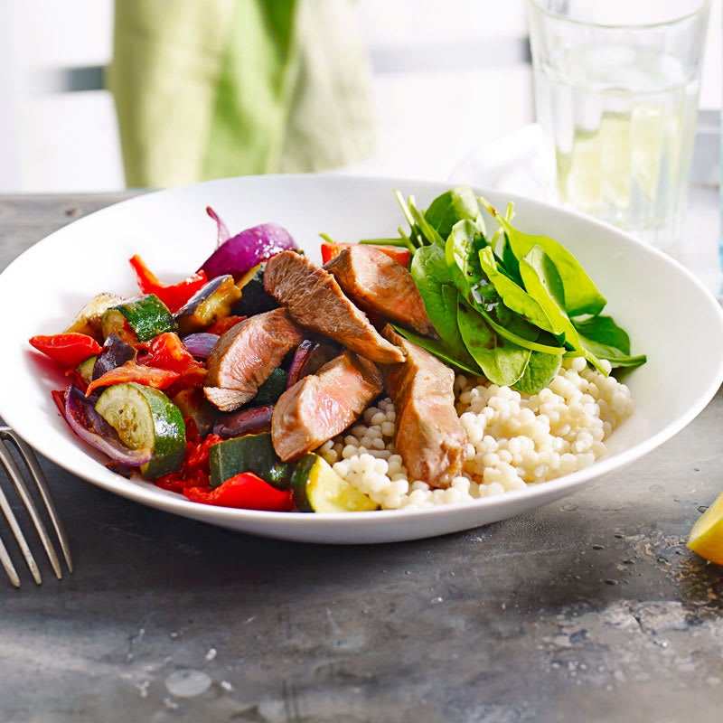 Photo of Lamb with ratatouille and pearl couscous by WW