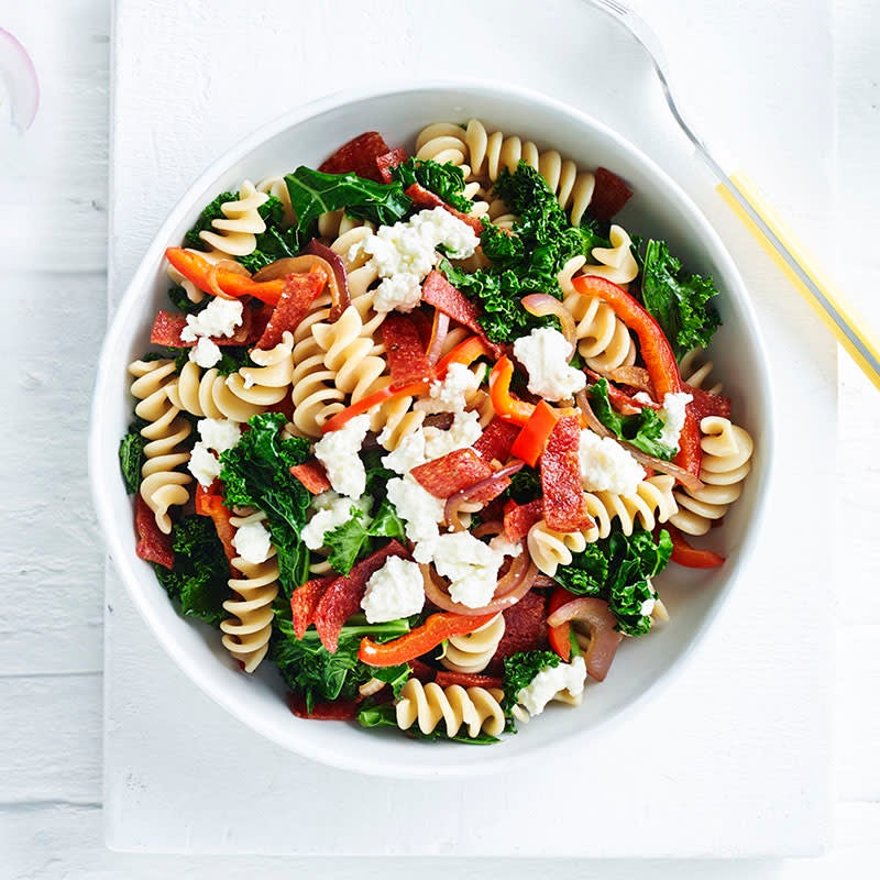 Photo of Spelt pasta with salami and kale by WW