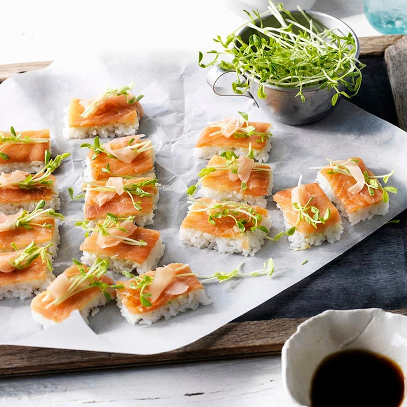 Photo of Smoked salmon sushi slice by WW