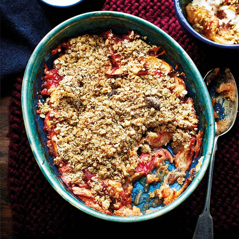 Photo of Apple and rhubarb crumble by WW