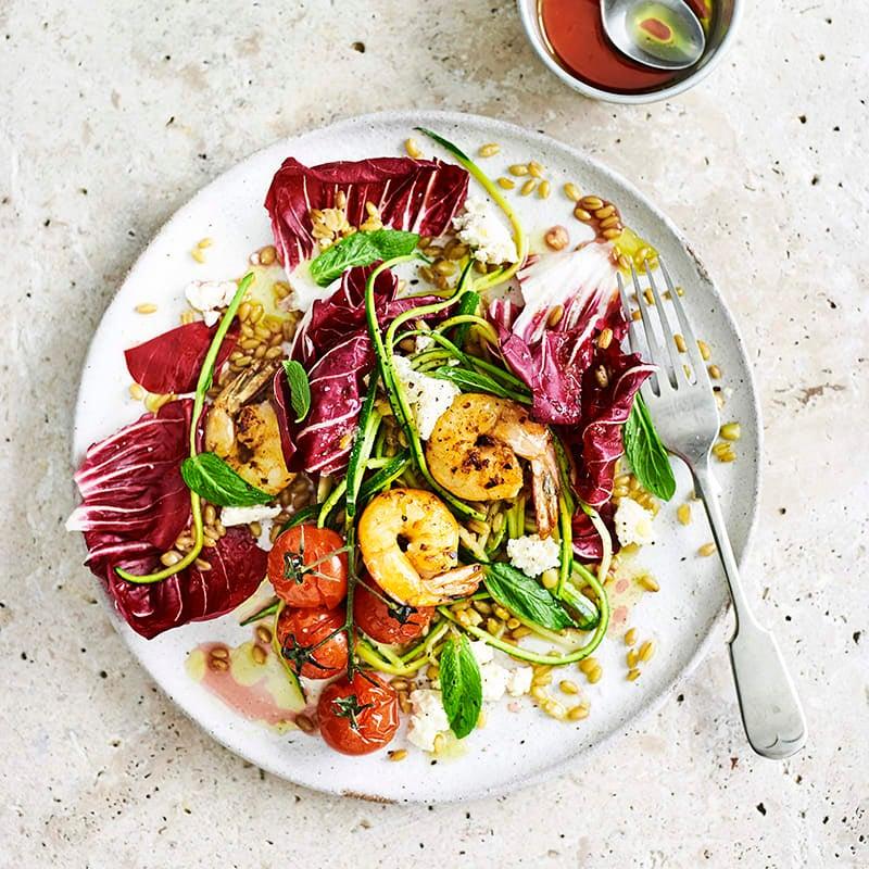 Photo of Farro salad with prawns by WW
