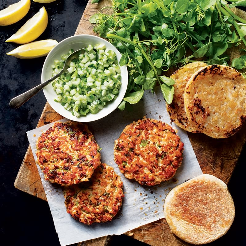 Photo of Salmon burger with cucumber salsa by WW