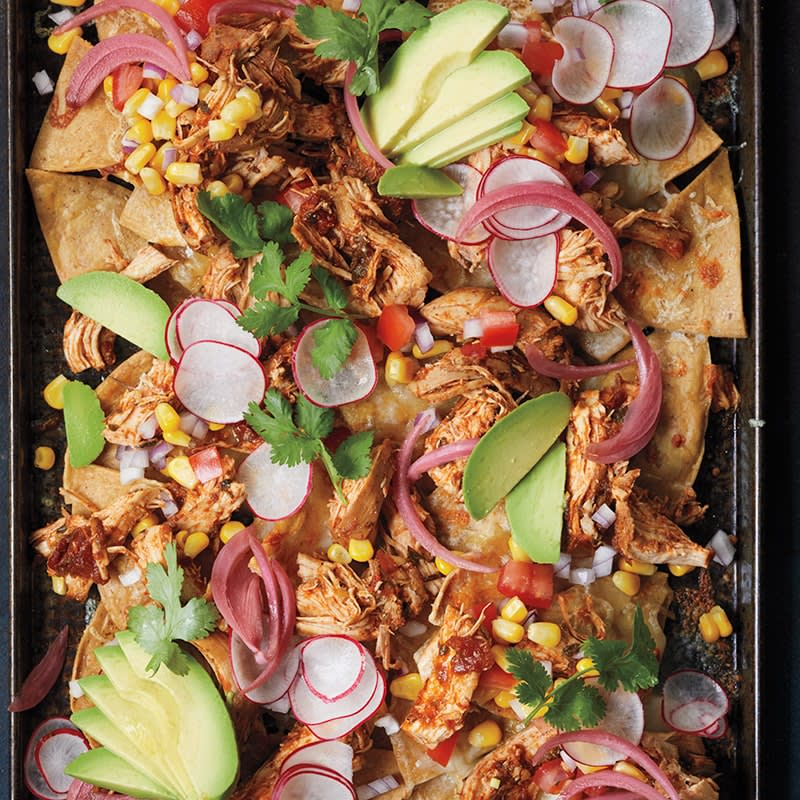 Photo of Slow-cooker piled-high chicken nachos by WW