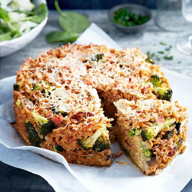 Photo of Mushroom, bacon and broccoli pasta pie by WW
