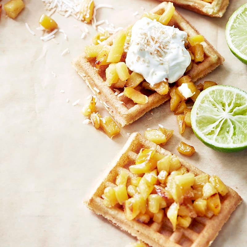 Photo of Waffles with caramelised pineapple by WW