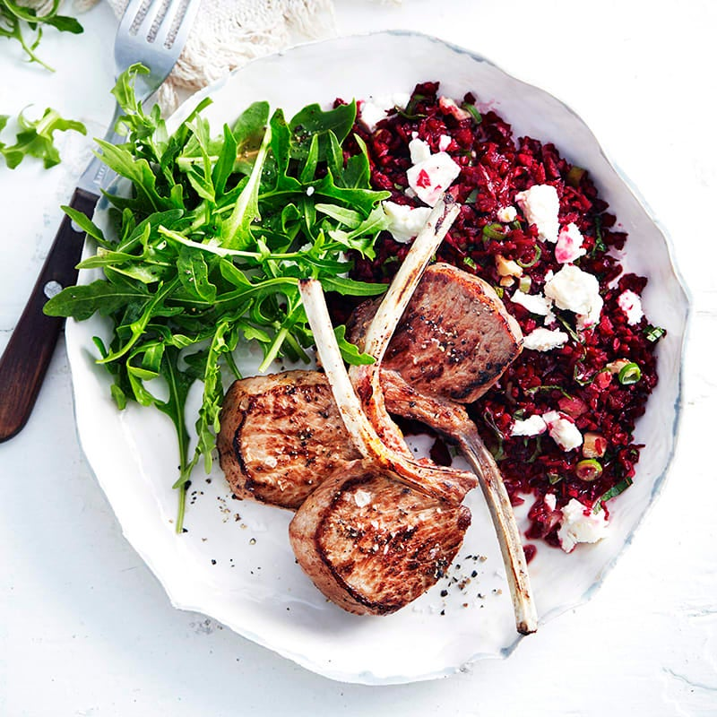 Photo of Lamb cutlets with beetroot couscous by WW