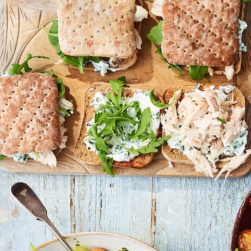 Photo of Toasted chicken, rocket and creamy chives sandwich by WW