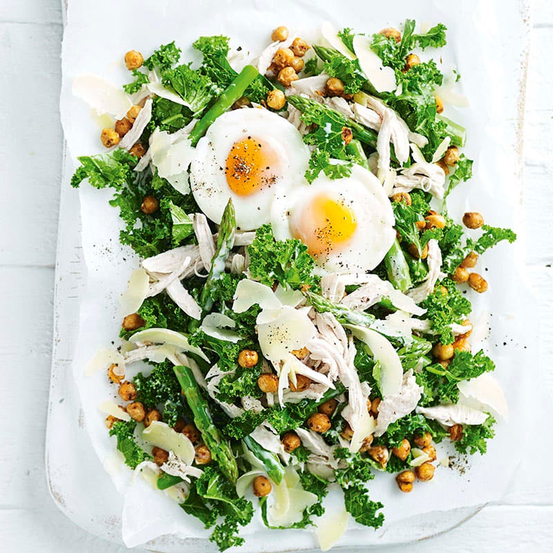 Photo of Kale and chicken salad with Cajun chickpeas by WW