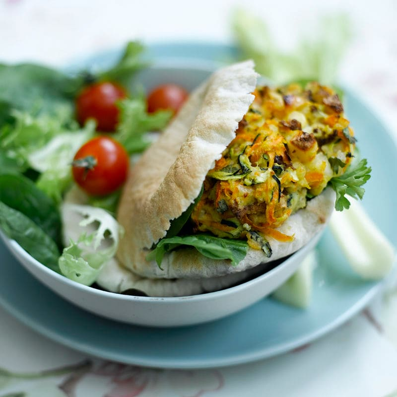 Photo of Vegetable haloumi burgers in mini pitas by WW