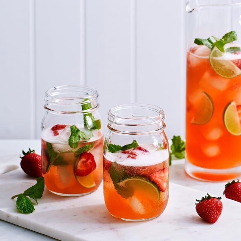 Photo of Strawberry mojito kombucha cocktail by WW