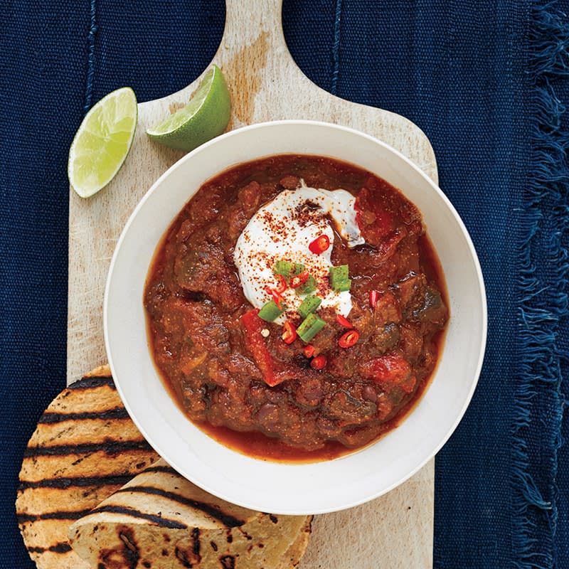 Photo of Slow-cooker mushroom and eggplant chilli by WW