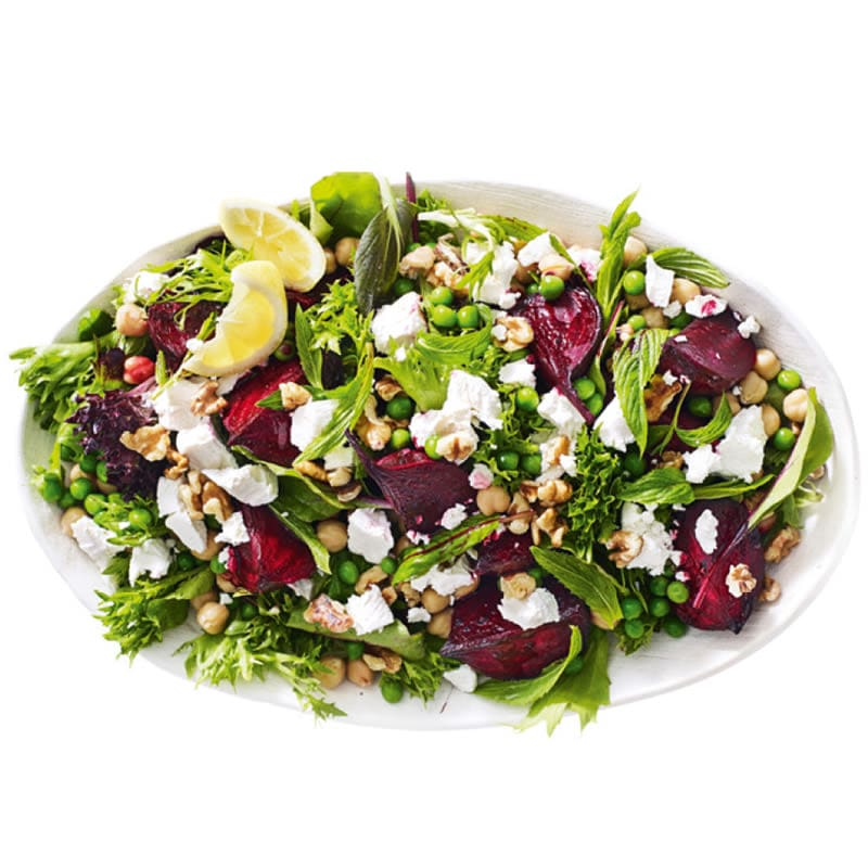 Photo of Roasted beetroot, pea, mint and goat's cheese salad by WW