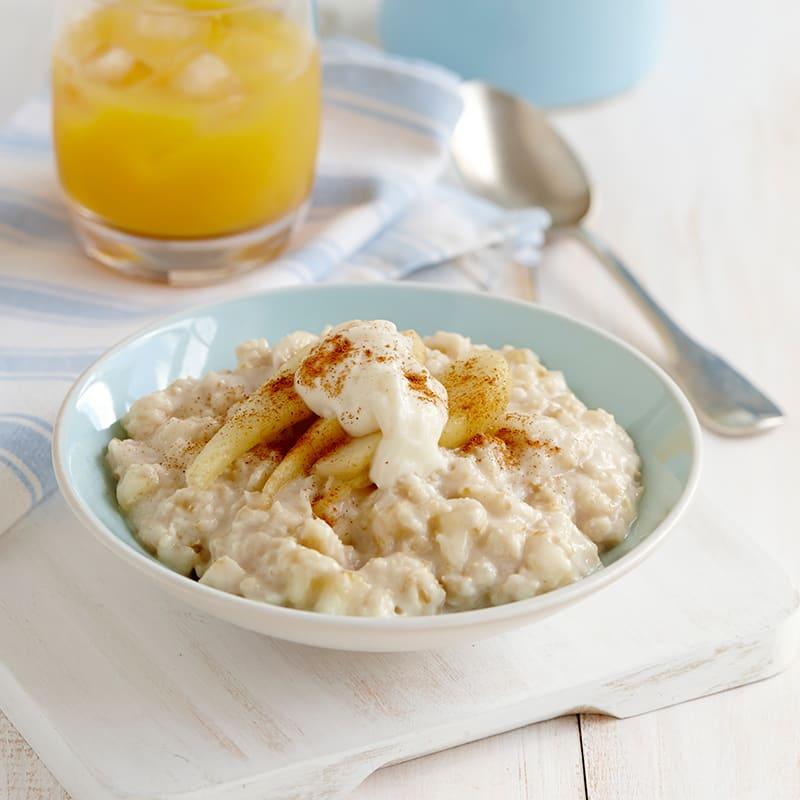 Photo of Creamy vanilla porridge with cinnamon pears by WW