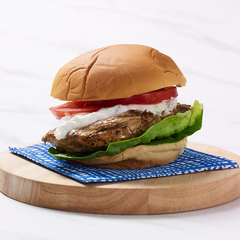 Photo of Greek-inspired chicken burgers by WW