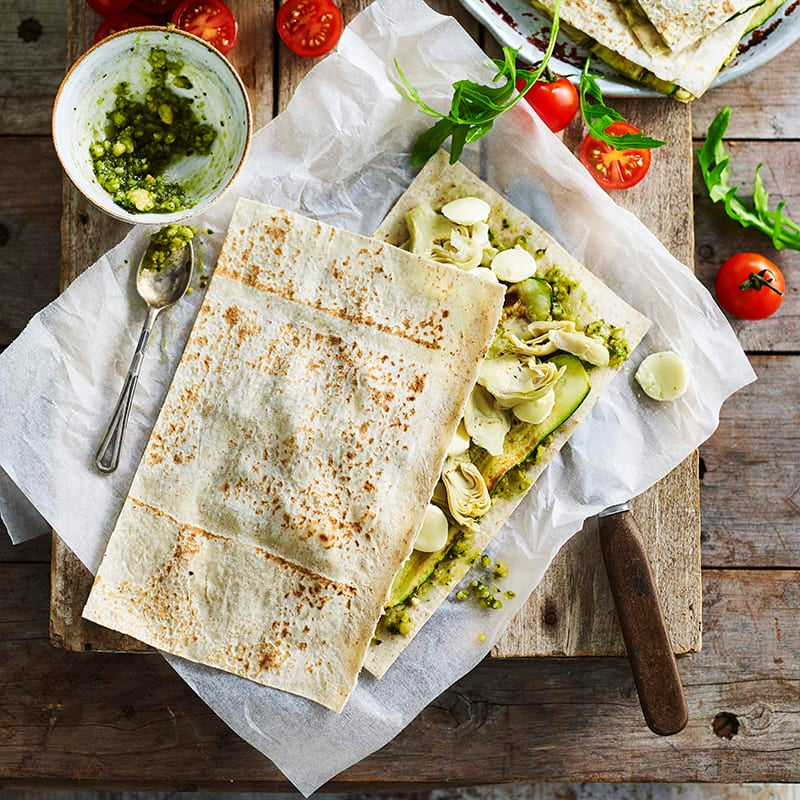 Photo of Zucchini, artichoke and cheese quesadillas by WW