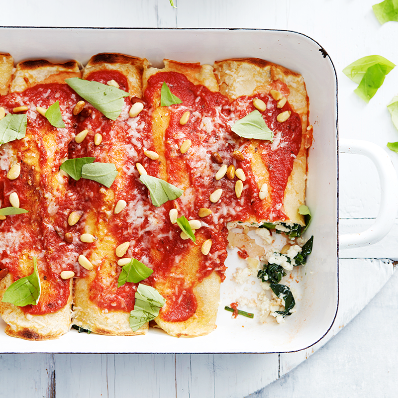 Photo of Spinach and ricotta crepe cannelloni by WW