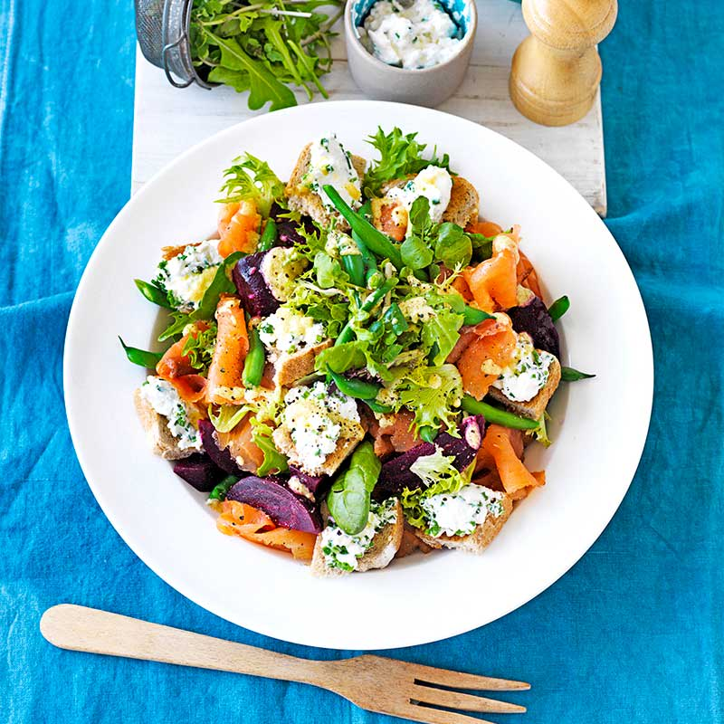 Photo of Beetroot and salmon salad by WW