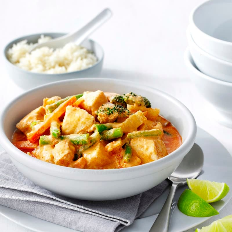 Photo of Fish and vegetable red Thai curry by WW