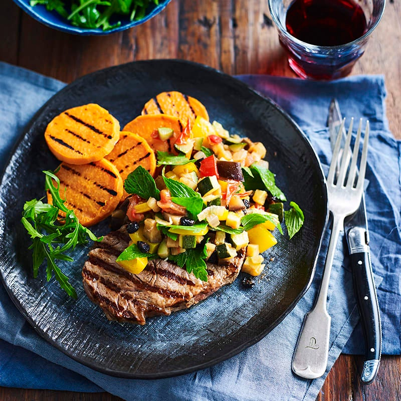 Photo of Chargrilled steak with quick caponata by WW