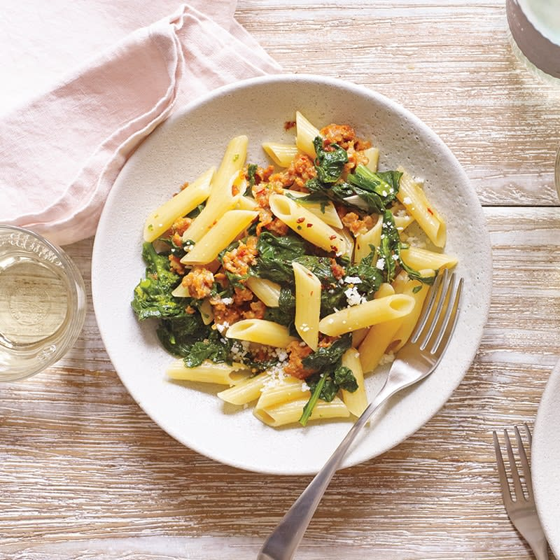 Photo of Penne with spinach and sausage by WW