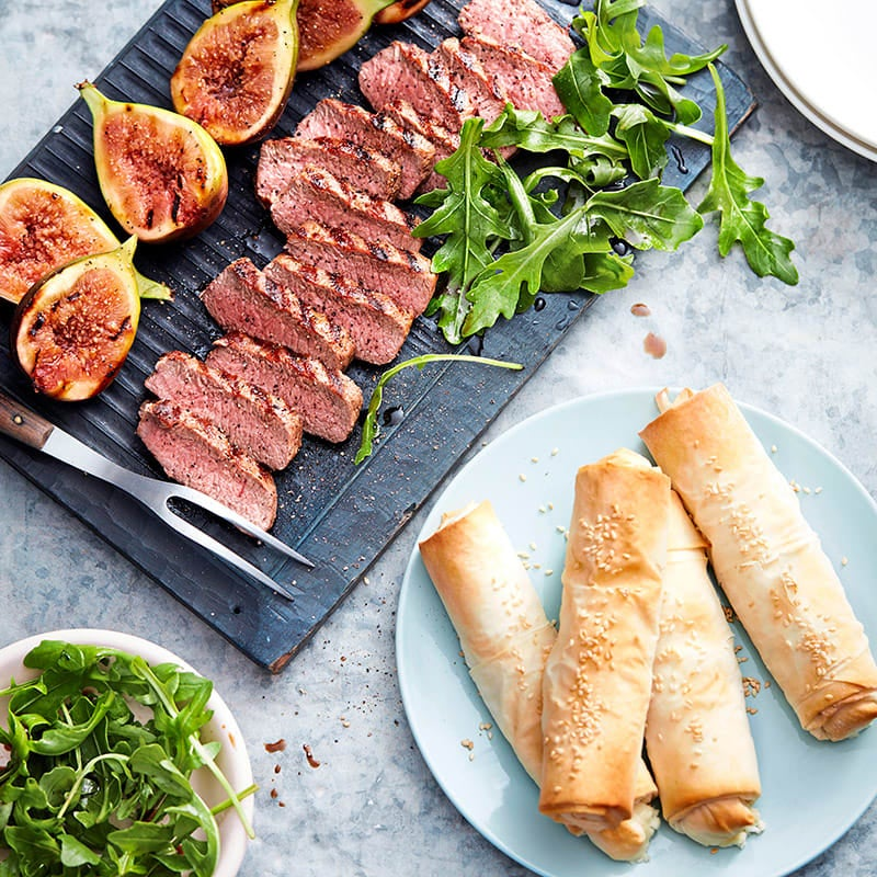 Photo of Lamb and figs with filo cheese roll by WW