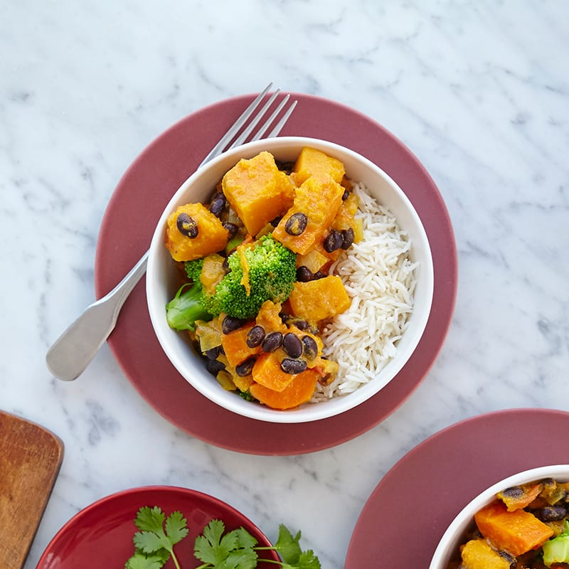 Photo of Slow-cooker coconut vegetable and black bean curry by WW