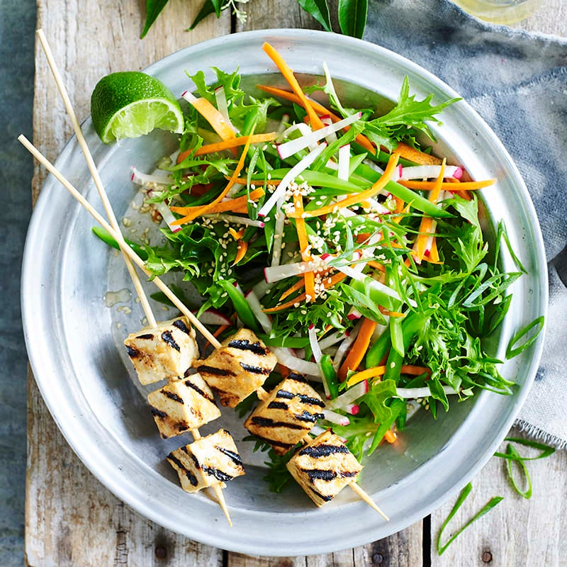 Photo of Sticky miso tofu with shredded vegetable salad by WW