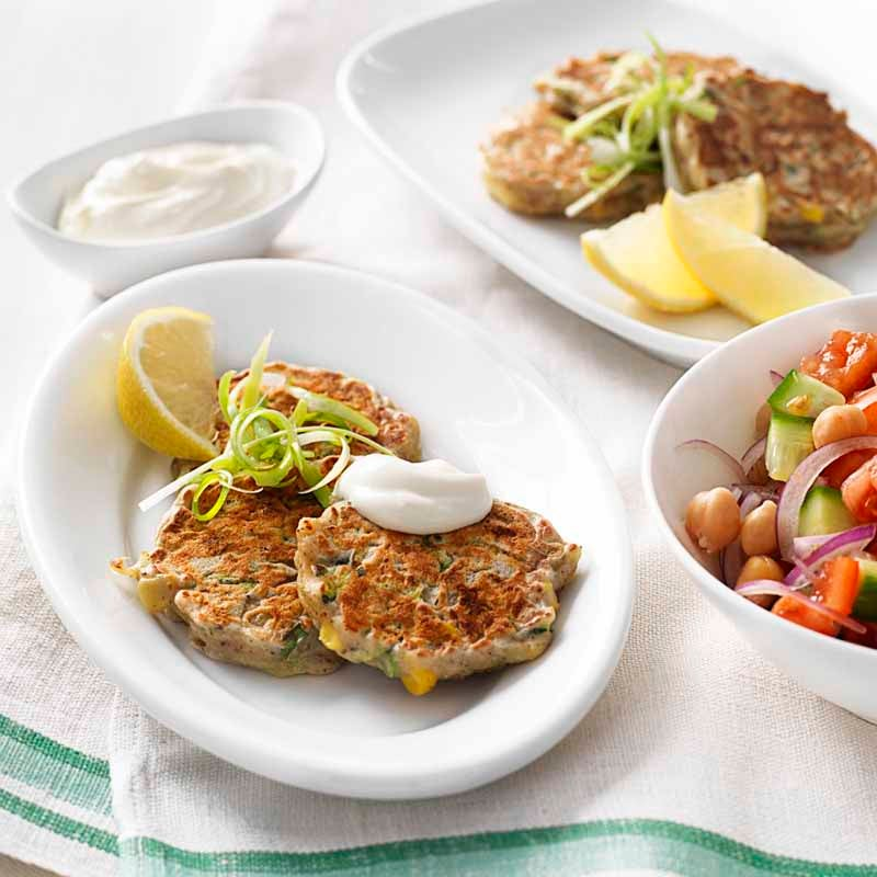Photo of Zucchini, corn and haloumi fritters by WW