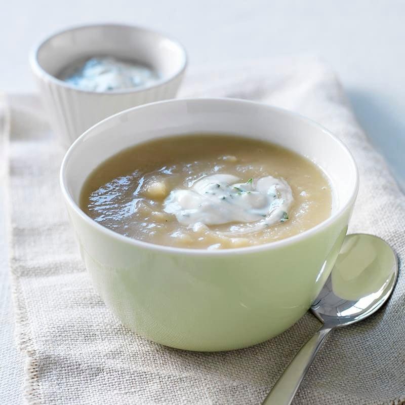 Photo of Potato and celeriac soup with herb yoghurt by WW