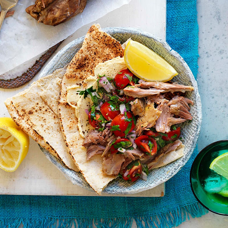 Photo of Lamb souvlaki with pita bread by WW