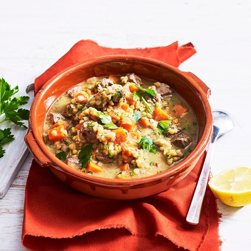 Photo of Middle Eastern lamb and red lentil soup by WW