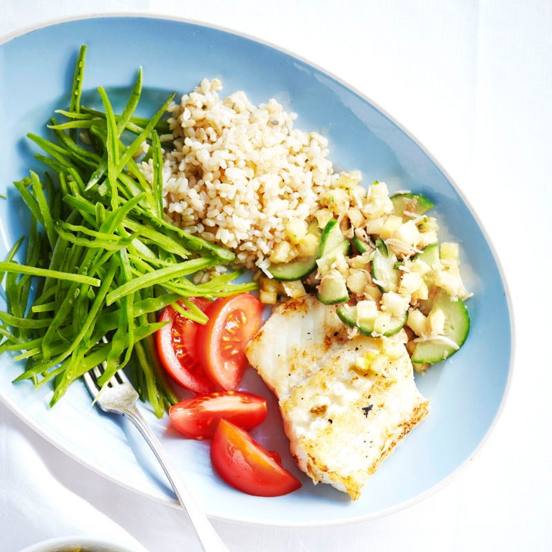 Photo of Chargrilled fish with coconut and green chilli salsa by WW