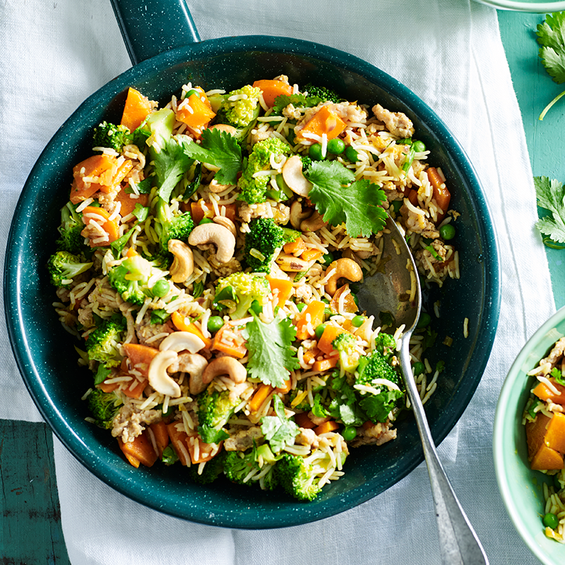 Photo of Indian spiced chicken and broccoli fried rice by WW