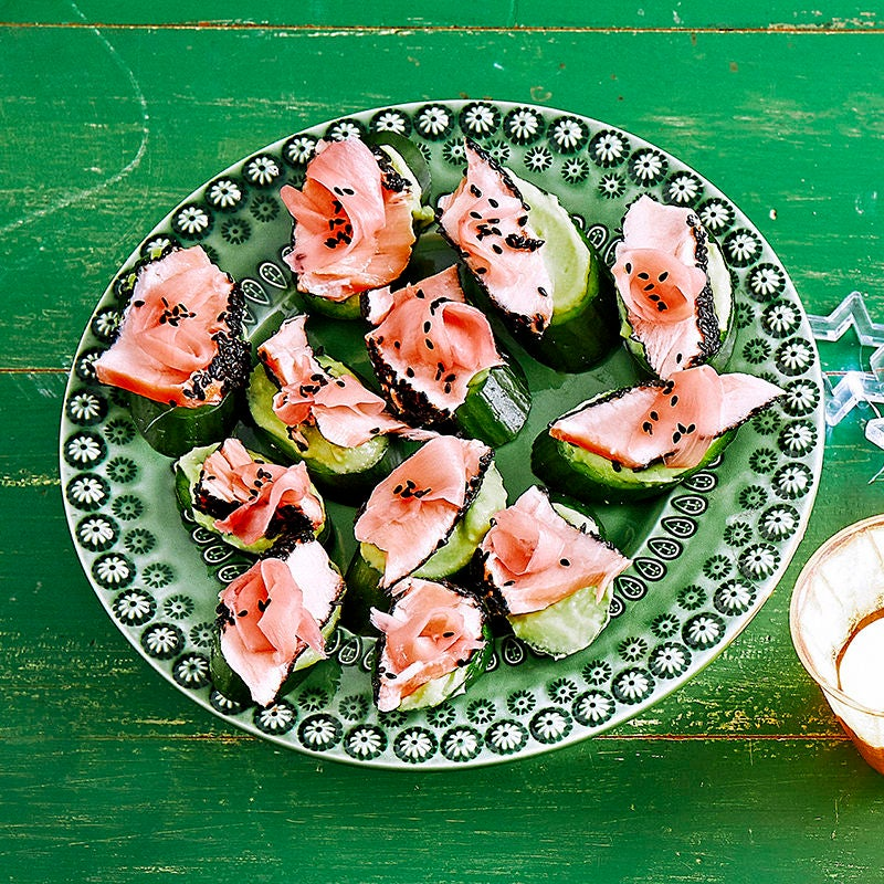Photo of Seared sesame salmon with wasabi avocado and cucumber by WW