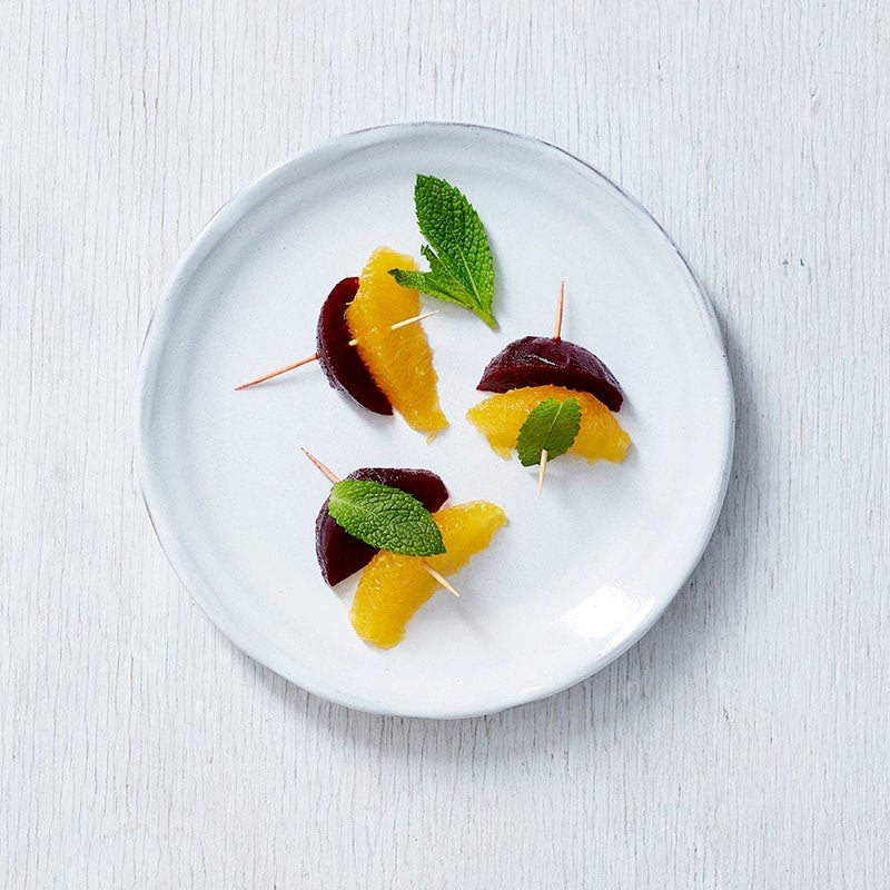Photo of Beetroot, orange and mint skewers by WW