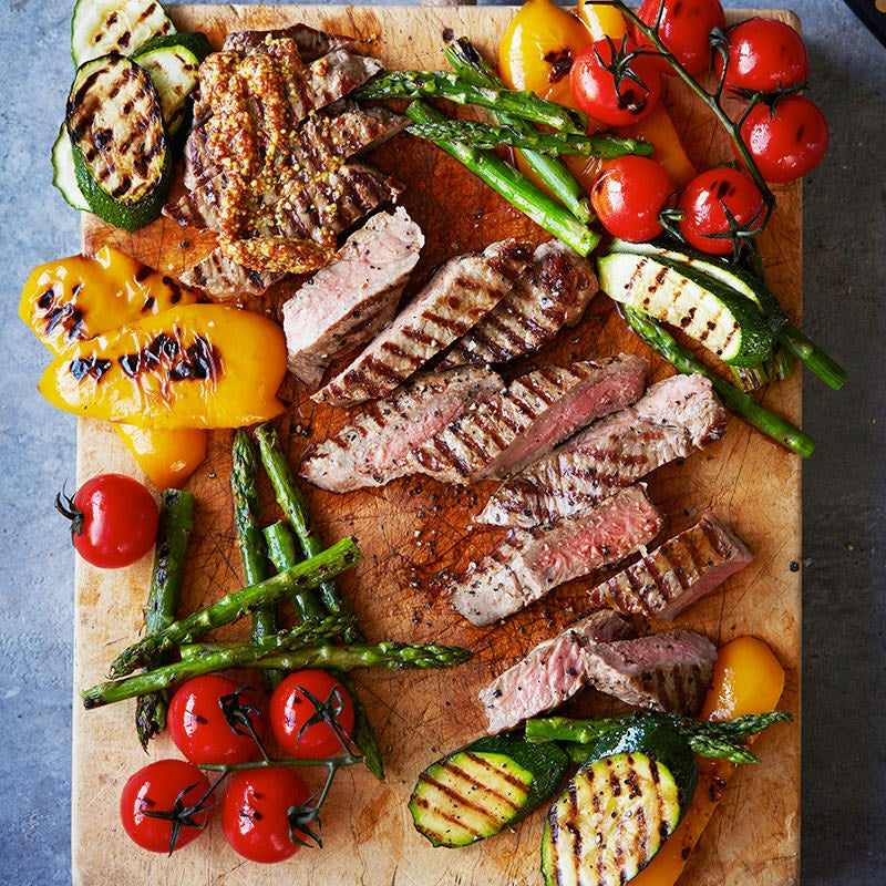 Photo of Perfect barbecued steak with grilled vegetables by WW