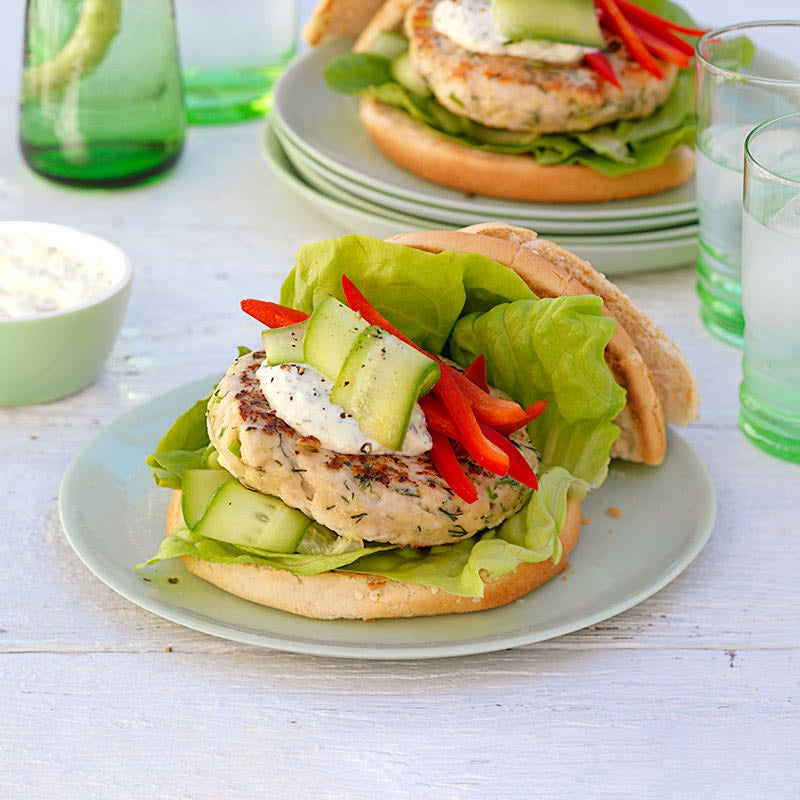 Photo of Dill and mustard chicken burgers by WW