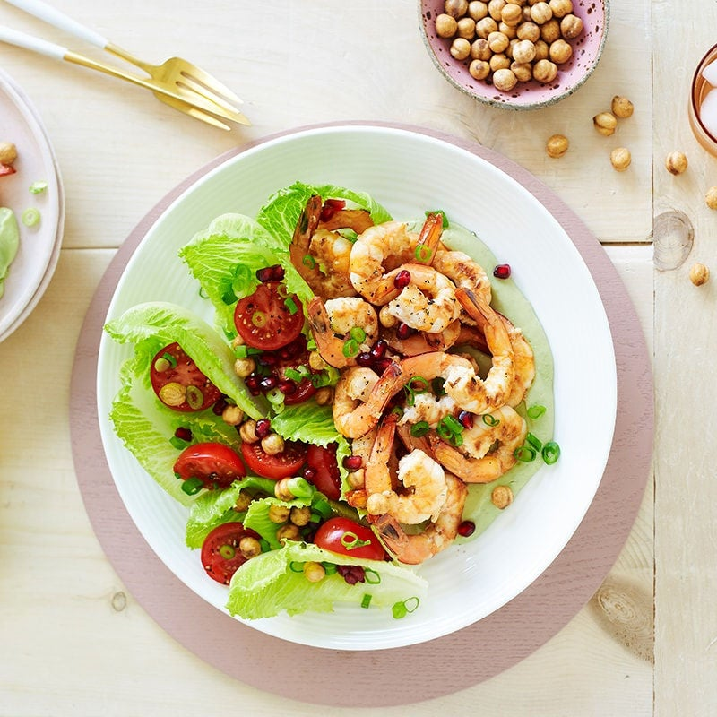 Photo of Prawn and chickpea salad with creamy avocado dressing by WW