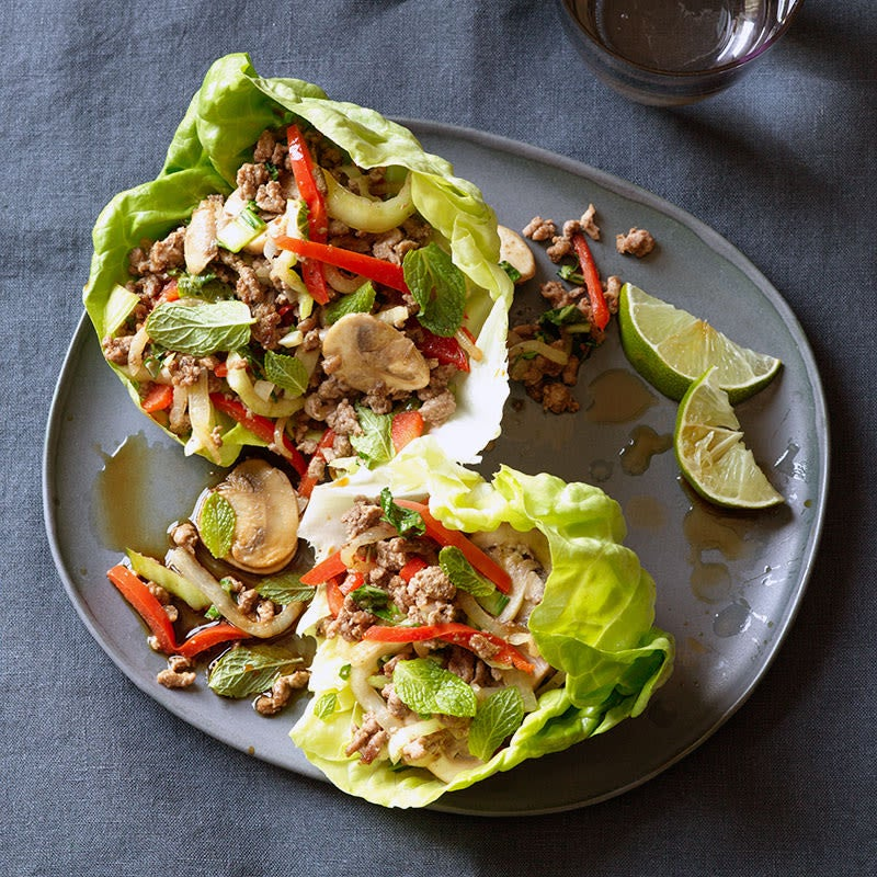 Photo of Gingery beef and mushroom lettuce wraps by WW