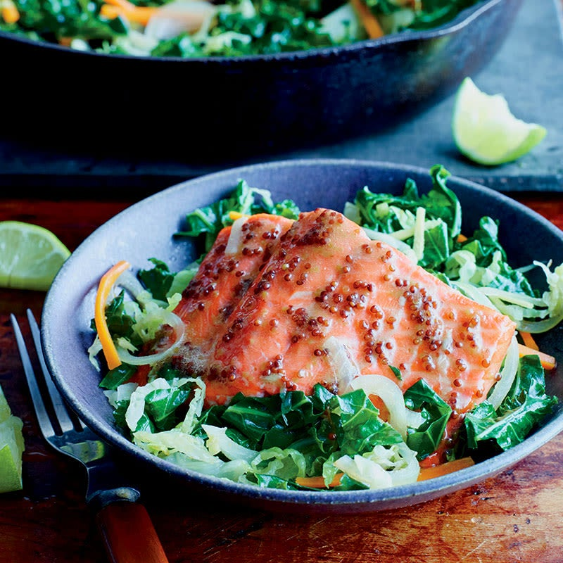 Photo of Dijon roasted salmon with vegetables by WW
