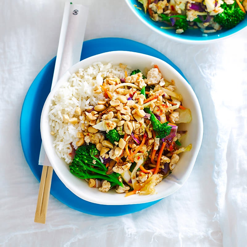 Photo of Chicken, vegetable and peanut stir-fry by WW