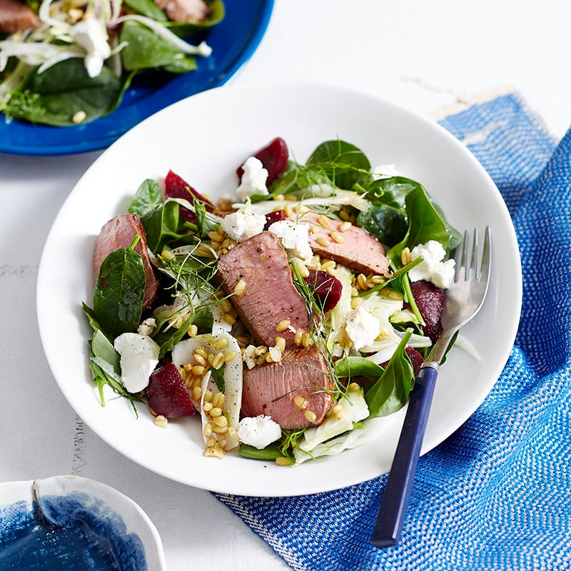Photo of Lamb, beetroot, rocket and freekeh salad by WW