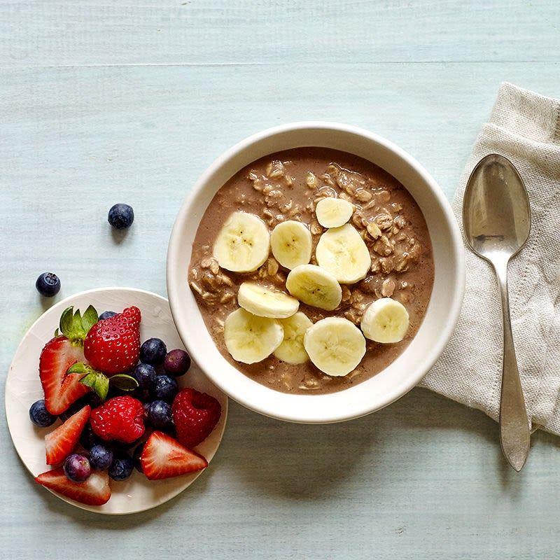 Photo of Chocolate, peanut butter and banana overnight oats by WW