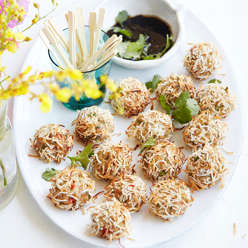 Photo of Pork, coriander, water chestnut and coconut balls by WW
