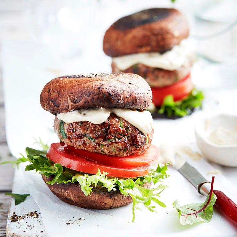 Photo of Lamb burger in a mushroom bun by WW