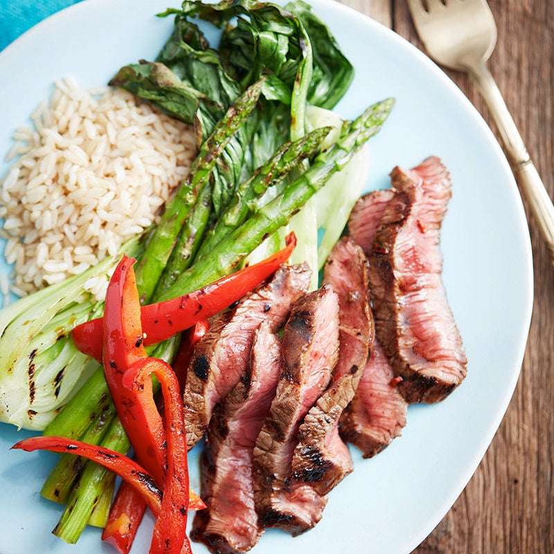 Photo of Black bean steaks with grilled vegetables by WW