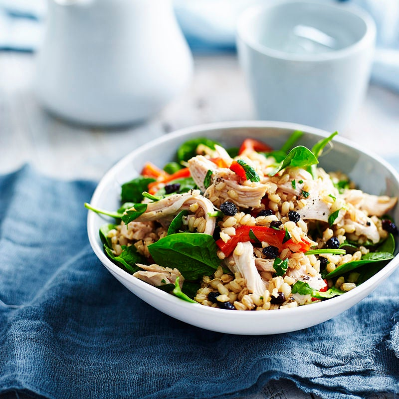 Photo of Barley and shredded chicken salad by WW